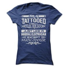 TATTOOED ELECTRICIAN AMAZING T-Shirts, Hoodies. Get It Now ==> https://www.sunfrog.com/LifeStyle/TATTOOED-ELECTRICIAN--AMAZING-T-SHIRTS-Ladies.html?id=41382