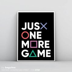 Gaming Print, Geek Wall Art, Playstation Art, Just One More Game, Gamepad Contro… – Photos from games Video Game Rooms, Video Game Art, Video Games, Video Game Bedroom, Video Game Decor, Video Game Cakes, Boys Game Room, Boy Room, Game Boy