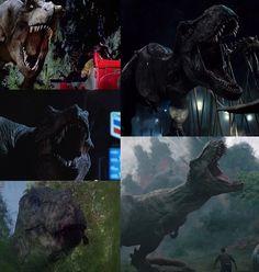 Jurassic Park 1993, Jurassic Park World, Indominus Rex, Tyrannosaurus Rex, Jurassic World Fallen Kingdom, Falling Kingdoms, Dinosaur Art, Prehistoric, Godzilla