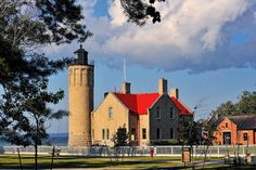 Old Mackinac Point Lighthouse, Mackinaw City, Mackinac Island - Click photo for **LARGE VIEW ON BLACK** by Michigan Nut, via Flickr