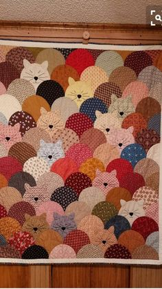 Cat Quilt Blanket – Kaylee And Tepid Patch Quilt, Applique Quilts, Quilt Blocks, Cat Quilt Patterns, Quilt Square Patterns, Quilting Projects, Quilting Designs, Sewing Projects, Clamshell Quilt