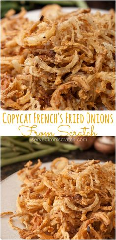 copycat recipes Take your holiday classics to a whole new level by making Copycat Frenchs Fried Onions From Scratch and never buy store bought fried onions again! Vegetable Side Dishes, Vegetable Recipes, Vegetarian Recipes, Fried Onions Recipe, Recipe For French Fried Onions, Onion Burger, Copykat Recipes, Bbq Bacon, Onion Recipes