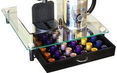 DecoBros Coffee Pod Pack Storage Glass Drawer Holder Organizer Nespresso Capsule