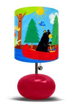 Black Bear Lodge Lamp by Oopsy Daisy - Kids Decorating Ideas