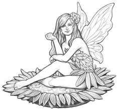 Coloring pages wind chimes ~ easy fairy sketches - Google Search | Art Inspiration ...