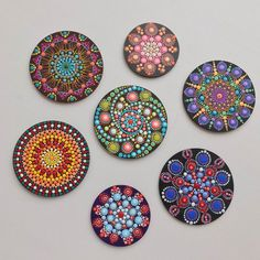 Hand Painted Dotted Mandala Souvenir Magnet
