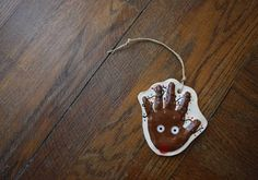 Raised Ceramic Handprint Ornament Kit To Go In Seasonal Reindeer Design on Natural Cording. Must have for Babies first Christmas! Model Magic, Kids Hands, Babies First Christmas, Ceramic Clay, Baby Prints, Holiday Ornaments, Twine, Ceramics, Seasons