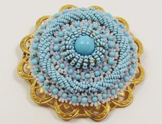 Louis Rousselet Turquoise brooch