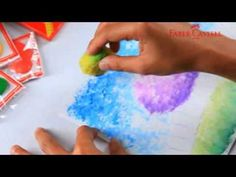 ▶ Faber-Castell Watercolour Pencil - Teknik Sponge - YouTube