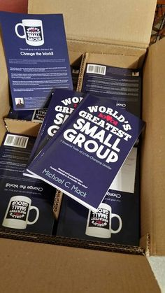 Just got a box of my new books! Get yours too, and use the discount code found here: http://smallgroupleadership.com/worlds-greatest-small-group/