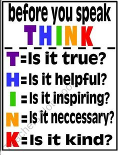Think- I love this! I have it posted on my fridge!