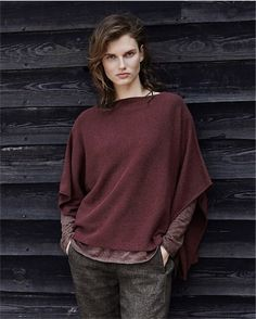 Poetry - Pure cashmere poncho - Our pure cashmere poncho is gorgeous, light as a feather but warm, understated but luxe. Very versatile, wear as an outer layer as the weather cools or over shirts and tunics as a stylish alternative to a cardigan. 100% cashmere