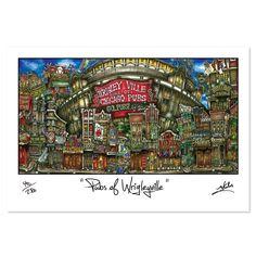 'Wrigleyville' by Brian McKelvey Painting Print
