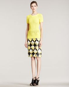 Derek Lam and ohmygod the skirt is snake skin patch work.