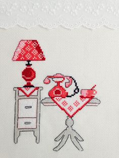 Cross stitch room