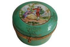 Hinged  German Porcelain Box by Ilmenauer Porzellanfabrik Graf von Henneberg, circa 1959  -  OneKingsLane.com  -  ($225.00)  $125.00