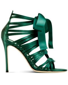 Gianvito Rossi green strappy heel