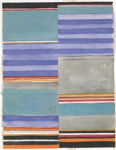 Design for a carpet Bauhaus Weimar, 1922 24x31 cm  Victoria & Albert Museum, London