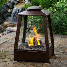 Lantern Fire Pit, i need this for my house @Tara Biello