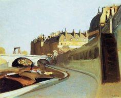 """urgetocreate: """"Edward Hopper, Le Quai des Grands Augustins, 1909 """""""