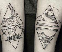 unique geometric tattoos