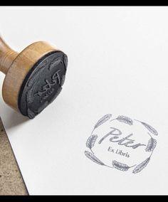 Custom Address Stamp, Personalized Books, Ex Libris, Stamps, Birthday, Seals, Birthdays, Personalized Address Stamp, Postage Stamps