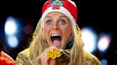 Therese Johaug tek gull : )