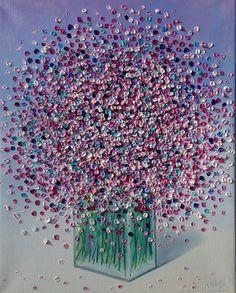 Картины цветов ручной работы. Ярмарка Мастеров - ручная работа. Купить Розовый букет 40х50см. Handmade. Живопись, подарок