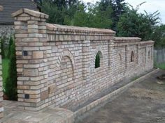 k27 Brick Paving, Brick Fence, Front Fence, Fence Gate, Backyard Fences, Garden Fencing, Yard Landscaping, Ranch Fencing, Compound Wall
