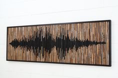 Sound Wave Skulptur, abstrakte Klangwelle, Altholz Wandkunst, große Wandkunst, - This product is made to order and has a week lead time before shipping. I send photos for your - Large Wood Wall Art, Reclaimed Wood Wall Art, Wood Art, Wood Sculpture, Wall Sculptures, Diy Tableau, Deco Studio, Deco Originale, Sound Waves