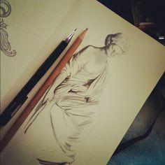 #wip #drawing #sketch #moleskine #greek (Taken with Instagram) #beejaedee