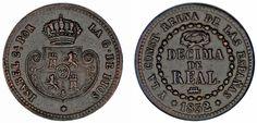 1 DÉCIMA DE REAL COBRE. ISABELLA II-ISABEL II. SEGOVIA 1852. XF/EBC. BONITA.