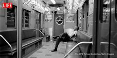 A photo of the New York subway in 1958