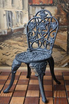 Chpt 1: Cast Iron Chair, very popular in garden furniture during the Industrial Revolution