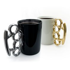 Get your punch of morning energy by sipping black coffee from this knockout design. - I love these for so many reasons lol :)