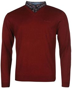 Mens Jumpers, Dark Red, Knitwear, Pie, V Neck, Amazon, Sweaters, Fashion, Torte