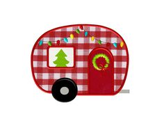 Christmas Camper Embroidery Applique - Instant Download - for Embroidery Machines