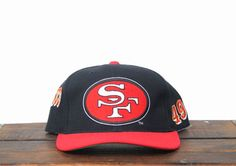 Vintage Deadstock New San Francisco Forty Niners Sports Specialties Football NFL Hat Snapback Baseball Cap 49ers Helmet, Forty Niners, How To Wash Hats, Old Clothes, Cool Hats, Almost Always, Hat Sizes, Selling On Ebay, Baseball Cap