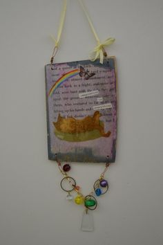 imagination is everything rainbow kitty by 3BoxStudios on Etsy