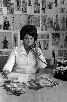 Eunice Johnson at work, 1970.