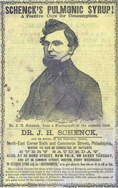 Front cover of Schenck's Pulmonic Syrup pamphlet.