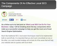 The Components Of An Effective Local SEO Campaign #business #marketing #localseo