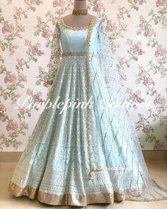 Metallic Grey Mogra Sharara - Latest Design - Customize Indian Gowns Dresses, Indian Outfits, Bridal Dresses, Indian Attire, Indian Clothes, Indian Wear, Bridal Anarkali Suits, Anarkali Dress, Lehenga Choli