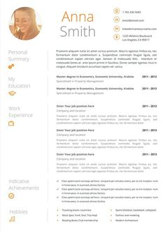 Creative Resume Microsoft Word Template  Instant Download By