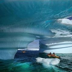 Kayaking Glacier Bay, Alaska.  @Melissa Snyder we are doing this before you leave Alaska!
