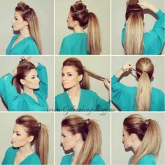 cool Frisky Puffed Party Ponytail ~ Entertainment News, Photos & Videos - Calgary, Edmonton, Toronto, Canada Read More by baileykemp.How To Make The Perfect PonytailPonytail ideas for long Glamorous Ponytail Hairstyles Tutorials For Summer You Work Hairstyles, Pretty Hairstyles, Ponytail Hairstyles Tutorial, Messy Ponytail Tutorial, Long Ponytail Hairstyles, Perfect Ponytail, Bad Hair, Hair Pictures, Great Hair