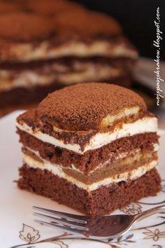 moje pasje: Ciasto latte macchiato Skinny Latte, Latte Macchiato, Chocolate Desserts, Tiramisu, Mojito, Sweet Tooth, Good Food, Food And Drink, Sweets