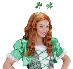 Serre-tête trèfles adulte Saint Patrick : Ce serre-tête vert pour adulte possède deux trèfles brillants sur ressort.Les trèfles mesurent environ 9 cm de hauteur.Cet accessoire apportera une touche de...