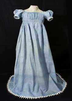 Child's cotton print dress, c.1820, from the Vintage Textile archives.