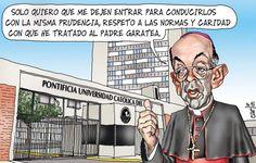 El trazo de Carlín sobre el Cardenal y Arzobispo de Lima, Juan Luis Cipriani, el caso Gastón Garatea y la Católica.